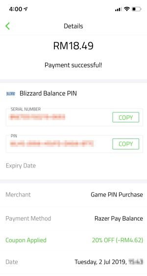 Razer Pay E-Wallet Discussion Thread