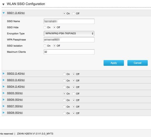 ZTE H267A Modem + Router Unifi