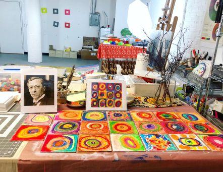 ⋒ Kandinsky Kids Art Exhibit (Grasshopper Cafe ) ⋒