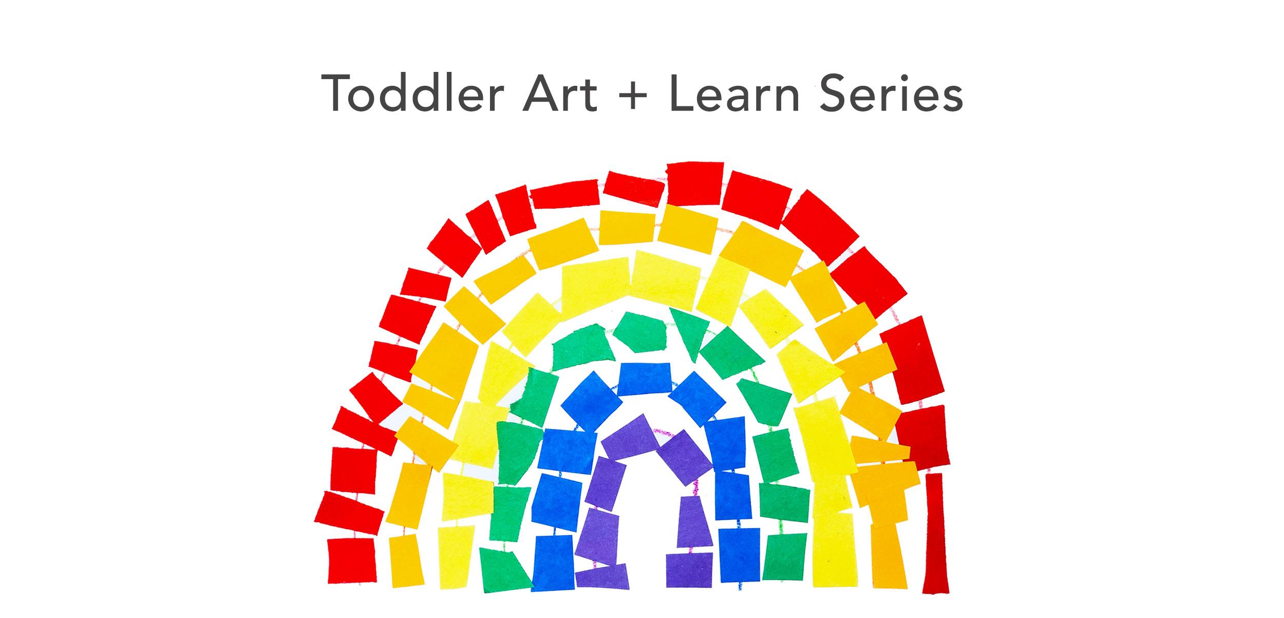 Rainbow toddler header