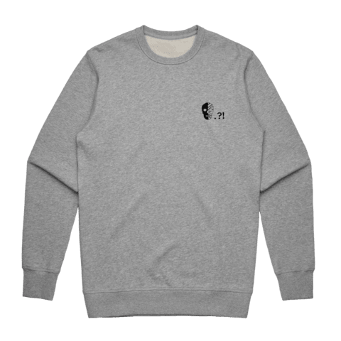 Skull   Men's 100% Cotton Embroidered Sweatshirt in Grey / XXL by Buff Diss