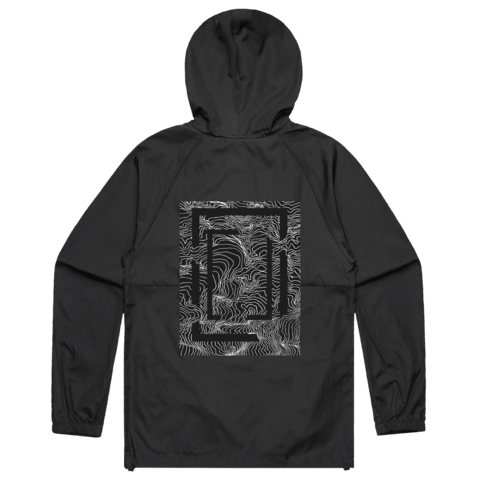 Square   Water Resistant Windbreaker in Black / XXL by Buff Diss