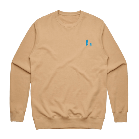 Ladder   Men's 100% Cotton Embroidered Sweatshirt in Tan / XXL by erinswindow