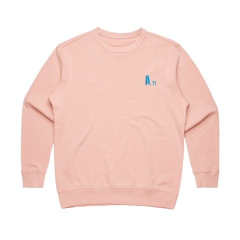 Ladder   Women's 100% Cotton Embroidered Sweatshirt in Pale Pink / XXL by erinswindow