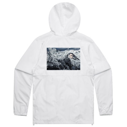 Wave   Water Resistant Windbreaker in White / XXL by Ikeya Tomohide
