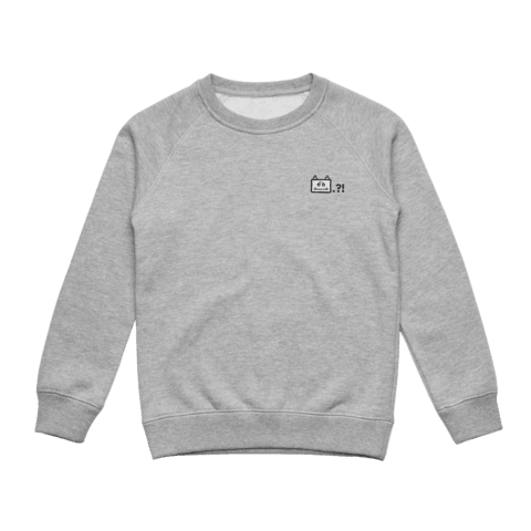 Miiya   Kid's Minimal Fleece Sweatshirt in Grey / XXL by Enpei Ito