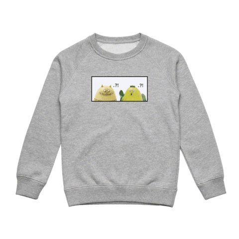 Miiya And Hooya   Kid's Minimal Fleece Sweatshirt in Grey / XXL by Enpei Ito