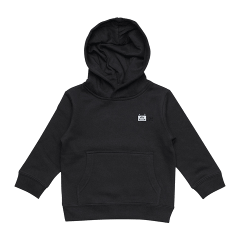 Miiya   Kid's Minimal Fleece Hoodie in Black / XXL by Enpei Ito