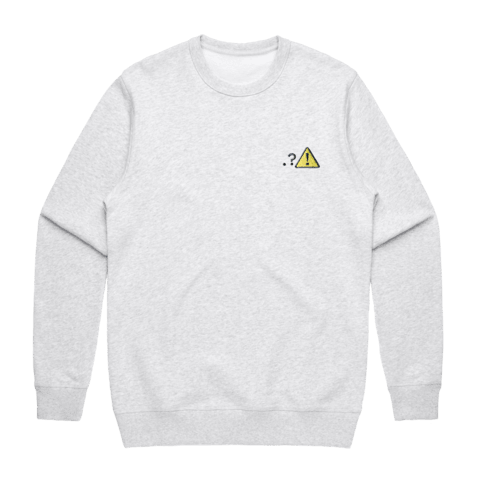 Caution   Men's 100% Cotton Embroidered Sweatshirt in Marble White / XXL by Michael Pederson
