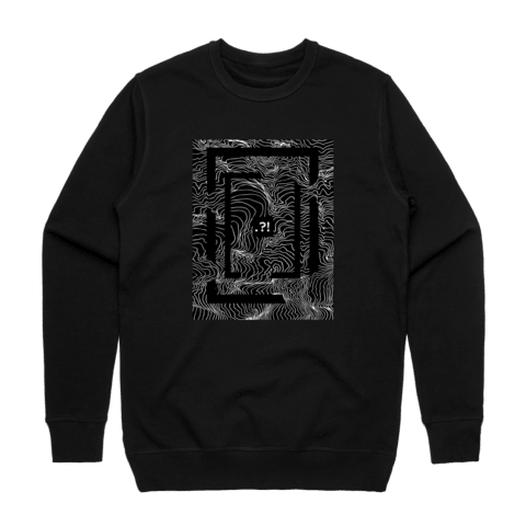 Square   Men's 100% Cotton Minimal Sweatshirt in Black / XXL by Buff Diss