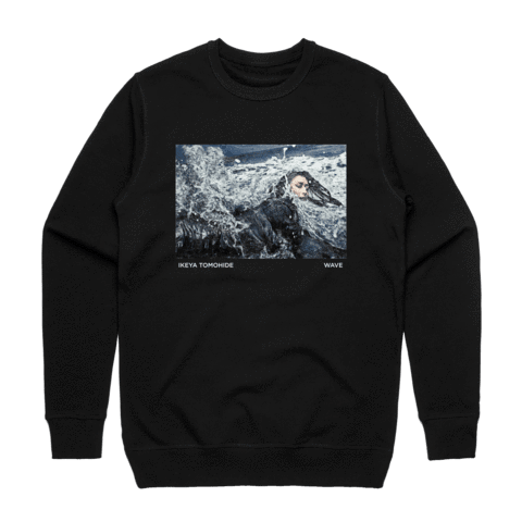 Wave   Men's 100% Cotton Gallery Sweatshirt in Black / XXL by Ikeya Tomohide