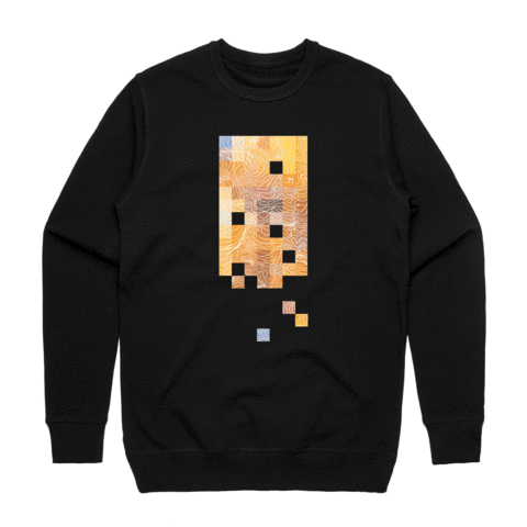 Colour Pixels   Men's 100% Cotton Minimal Sweatshirt in Black / XXL by Buff Diss