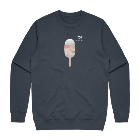 Cake Popsicle 09   Men's 100% Cotton Minimal Sweatshirt in Air Force Blue / XXL by Raymond Tan