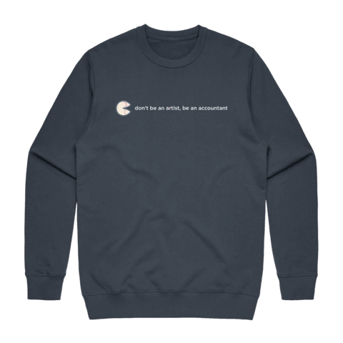 The Unfortunate Cookie 02   Men's 100% Cotton Sweatshirt in Air Force Blue / XXL by Raymond Tan