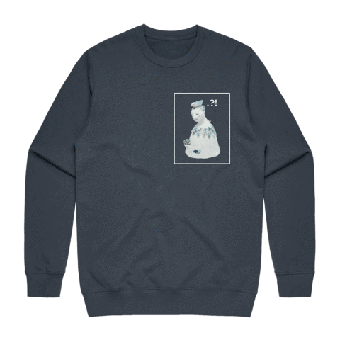 Bell People 01   Men's 100% Cotton Minimal Sweatshirt in Air Force Blue / XXL by erinswindow
