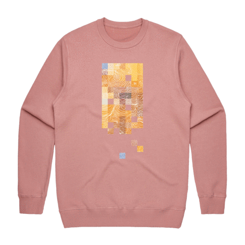Colour Pixels   Men's 100% Cotton Minimal Sweatshirt in Rose / XXL by Buff Diss