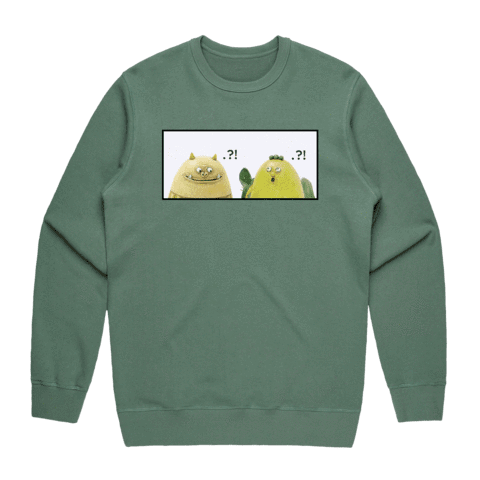 Miiya And Hooya   Men's 100% Cotton Minimal Sweatshirt in Sage / XXL by Enpei Ito