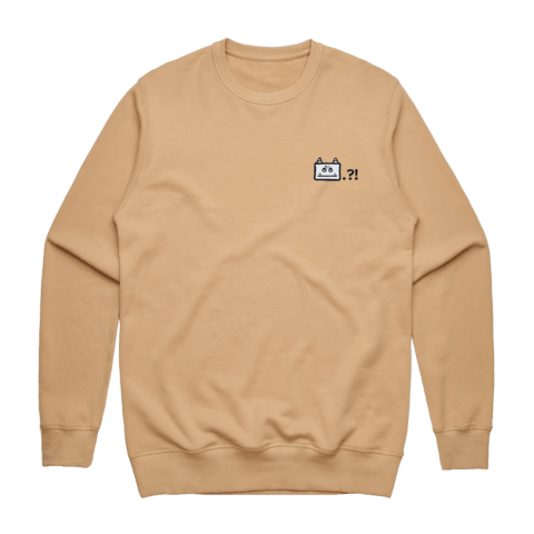 Miiya   Men's 100% Cotton Embroidered Sweatshirt in Tan / XXL by Enpei Ito