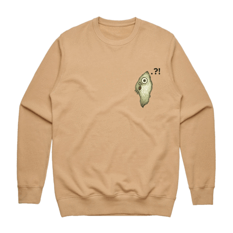 Hooya   Men's 100% Cotton Minimal Sweatshirt in Tan / XXL by Enpei Ito