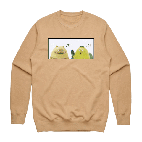 Miiya And Hooya   Men's 100% Cotton Minimal Sweatshirt in Tan / XXL by Enpei Ito