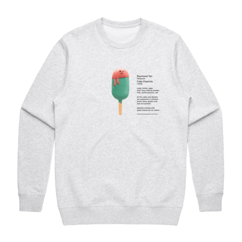 Cake Popsicle 01   Men's 100% Cotton Gallery Sweatshirt in Marble White / XXL by Raymond Tan