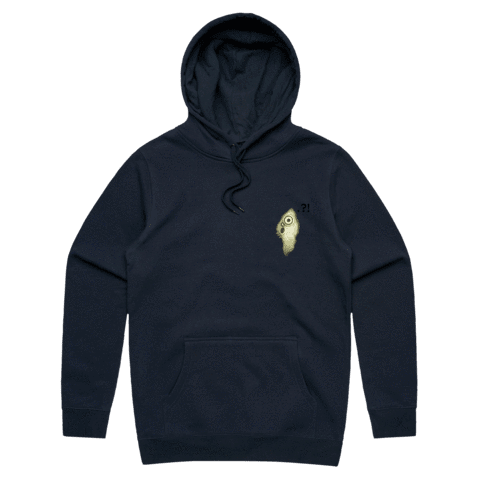 Hooya   Unisex Minimal Fleece Hoodie in Navy / XXL by Enpei Ito