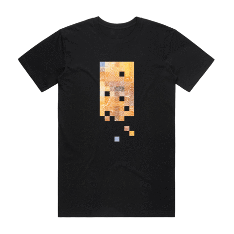 Colour Pixels   Men's 100% Organic Cotton Minimal T-shirt in Black / XXL by Buff Diss