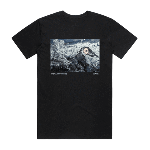Wave   Men's 100% Cotton Gallery T-shirt in Black / XXL by Ikeya Tomohide