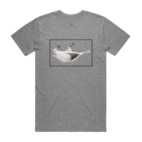 Bird Rider 01   Men's 100% Organic Cotton Minimal T-shirt in Grey / XXL by erinswindow