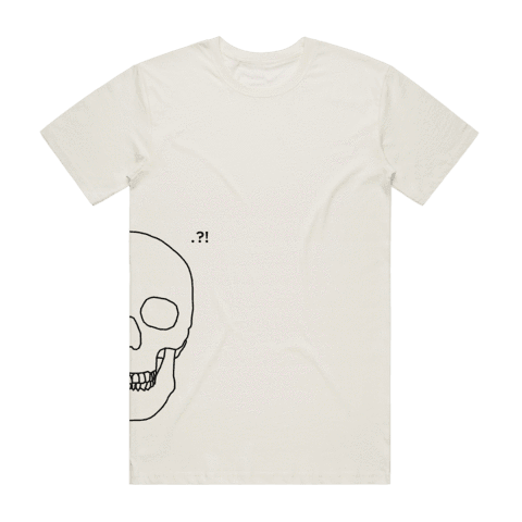Skull   Men's 100% Organic Cotton Minimal T-shirt in Natural / XXL by Buff Diss