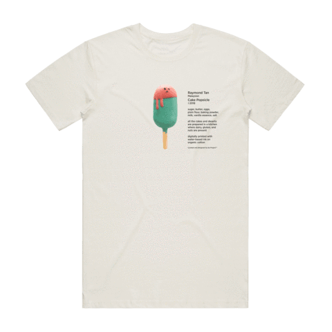 Cake Popsicle 01   Men's 100% Organic Cotton Gallery T-shirt in Natural / XXL by Raymond Tan