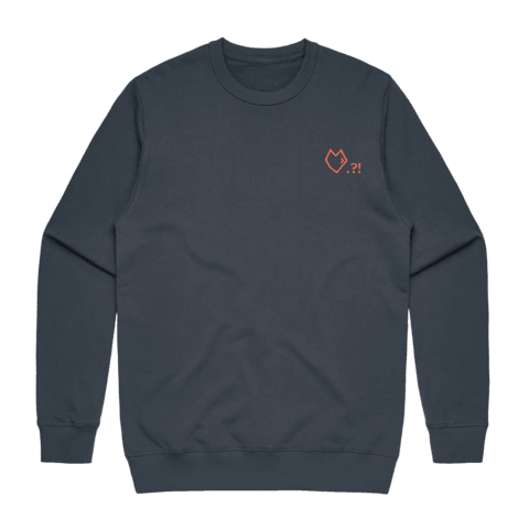 Lover   Men's 100% Cotton Embroidered Sweatshirt in Air Force Blue / XXL by Paul Turner