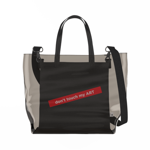 don't touch my ART   Clear Tote Bag in Dark / Black by So Project™