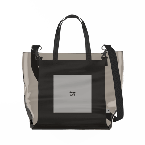 Art   Clear Tote Bag in Dark / Black by So Project™