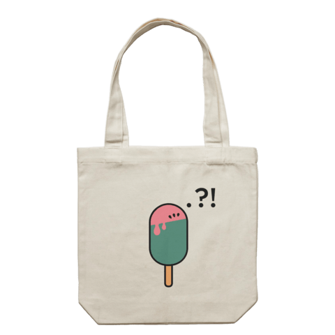 Watermelon Popsicle   43 X 43 CM Tote Bag in Cream by Raymond Tan