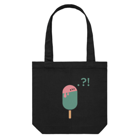 Watermelon Popsicle   43 X 43 CM Tote Bag in Black by Raymond Tan