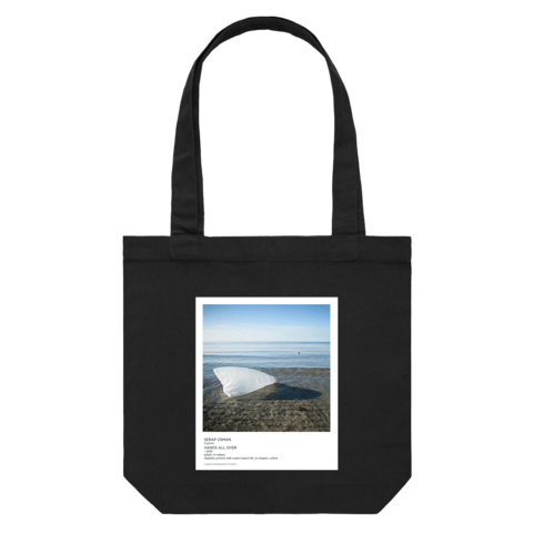 Hands All Over 05   43 X 43 CM Tote Bag in Black by Serap Osman