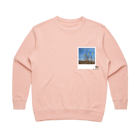Hands All Over 09   Women's 100% Cotton Minimal Sweatshirt in Pale Pink / XL by Serap Osman