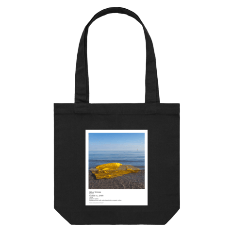 Hands All Over 10   43 X 43 CM Tote Bag in Black by Serap Osman