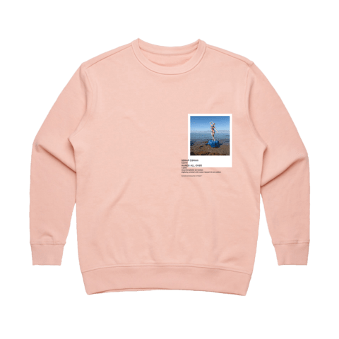 Hands All Over 11   Women's 100% Cotton Gallery Sweatshirt in Pale Pink / XXL by Serap Osman