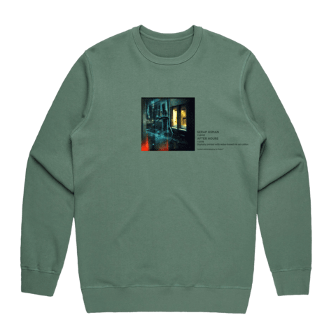 After Hours 1   Men's 100% Cotton Gallery Sweatshirt in Sage / XXL by Serap Osman