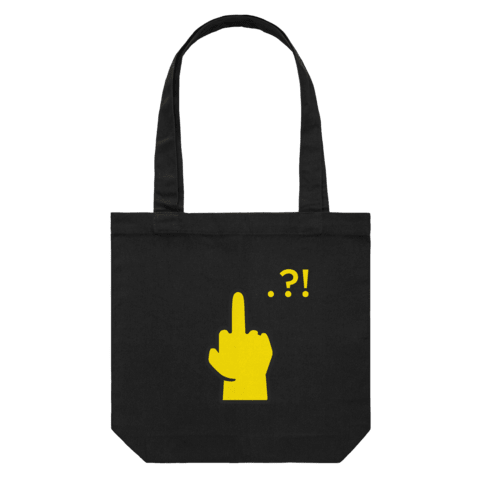Hands All Over   43 X 43 CM Tote Bag in Black by Serap Osman