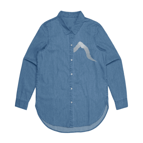 Blue Songs   Women's 100% Cotton Denim Shirt in L by Yuuna Okanishi