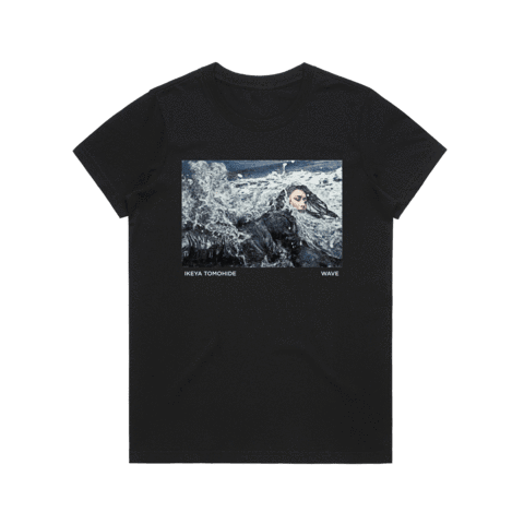 Wave   Women's 100% Cotton Gallery T-shirt in Black / XXL by Ikeya Tomohide