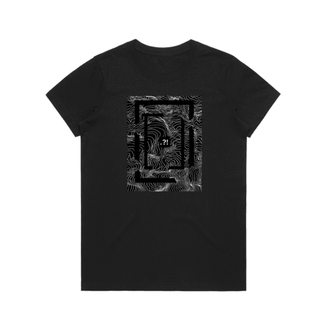 Square   Women's 100% Organic Cotton Minimal T-shirt in Black / XXL by Buff Diss