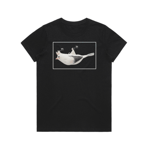 Bird Rider 01   Women's 100% Organic Cotton Minimal T-shirt in Black / XXL by erinswindow