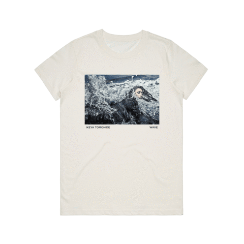 Wave   Women's 100% Cotton Gallery T-shirt in Natural / XXL by Ikeya Tomohide