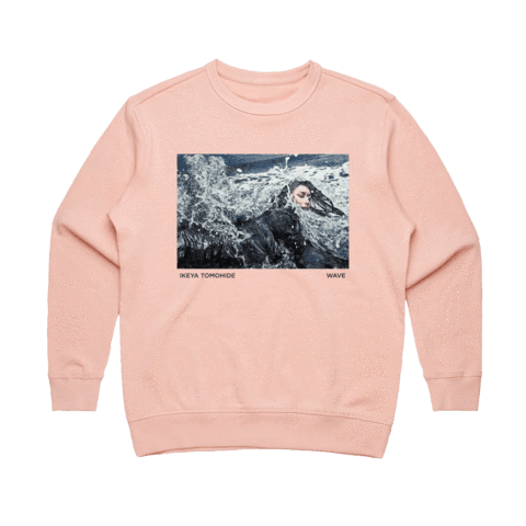 Wave   Women's 100% Cotton Gallery Sweatshirt in Pale Pink / XL by Ikeya Tomohide