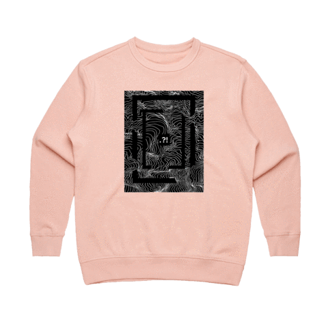Square   Women's 100% Cotton Minimal Sweatshirt in Pale Pink / XL by Buff Diss