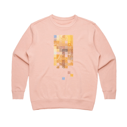 Colour Pixels   Women's 100% Cotton Minimal Sweatshirt in Pale Pink / XL by Buff Diss